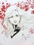Jean Grey Con doodle - SDCC 2014 by aethibert