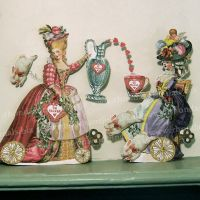 Valentine Tea Lady Paper Doll To Make MA14 by rhondasoriginals