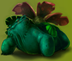 Pokemonathon: 003 Venusaur by monokin