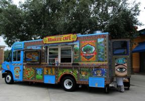 Colorful Food Truck by WisteriasWeb