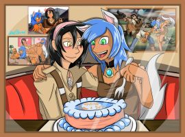 Happy Birthday, Katthica and Buffalo! by Gear-of-Ren