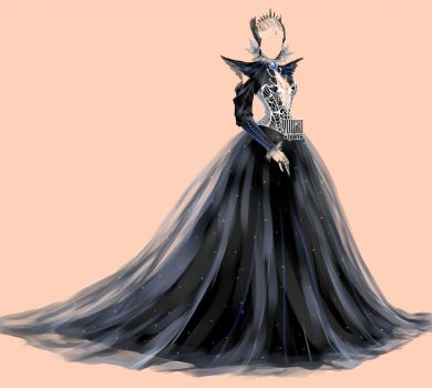 [open] Auction Dark Raven's Dress Adopt Outfit by YuiChi-tyan