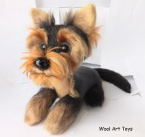 Needle felted Yorkshire Terrier toy by WoolArtToys