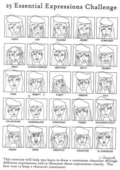 25 expressions by neuroticchaos