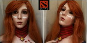 Lina Make Up test- DotA2 by AnneTSeptik