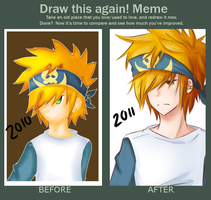 Before And After Meme by BottleWonderland