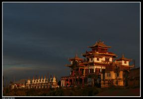 Monastery at sunset by bingbing51