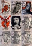 INDIANA JONES Sketch Cards 3 by J-Scott-Campbell