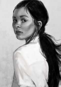 Speed Painting : Portrait by Pakoune