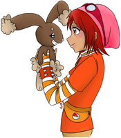 Buneary and Girl trainer Amy by Karacoon