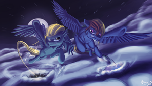 Rainbow Dash vs Lighting Dust by Alumx