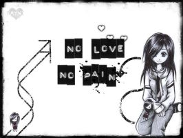 : No Love No Pain : by F-AYN-T