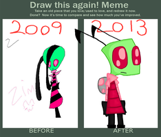 Invader Zim (Draw This Again) by BoomBuzz