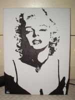 Marilyn Monroe Canvas by Makavelithedon