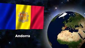Flag Wallpaper - Andorra by darellnonis