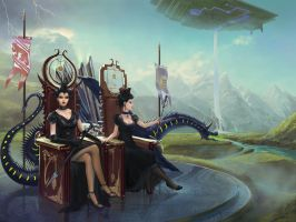 Two Queens Of Trimble by fantasio