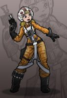 X-Wing Girl Pilot by Sachmoe64