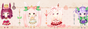 Royal Puffettes SALE *SET PRICE! by pojipop-adopts