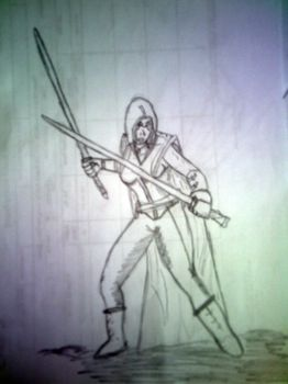 SWToR character sketch for my brother in law by LeahBlake