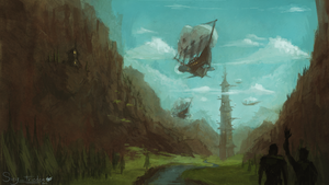 Airships by JoshuaNel