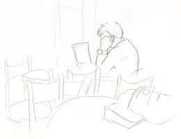 Cafe drawings 30 by Adele-Waldrom