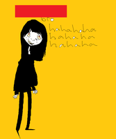 idk if the bg is yellow or orange by DogCorpse