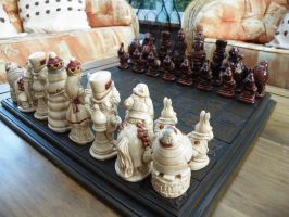 Alice IN Wonderland Chess Pieces by littleme1969