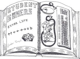 Student Gamers Logo by downflowing218