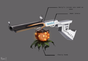 DAY 197. Cherry Gun (25 Minutes) by Cryptid-Creations