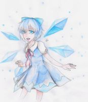 Yay Cirno ~ by Gwen2ly