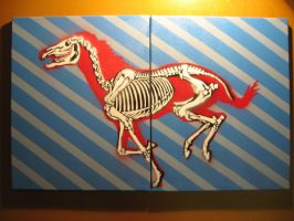 Horse Skeleton Stencil by AdomasWillKill
