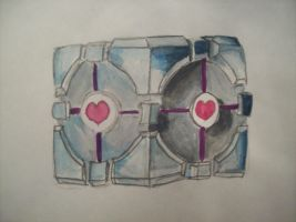 companion cube Updated by McMuffinNinjaFluffer