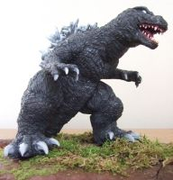 Godzilla 2001 Sculpture - GMK Kaiju Monster by AWMStudioProductions