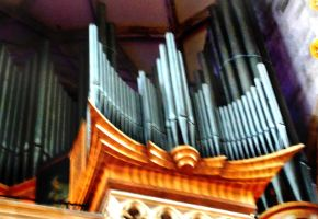 pipe organ in Church by GraceDoragon