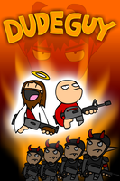 Dudeguy video game flyer by Zoolon
