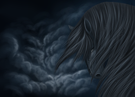 Crying horse by Koboiczna