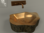 Stump Sink and Faucet by MeshCraft