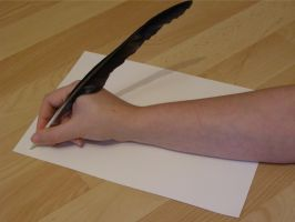 Quill feather pen thang....2 by chop-stock