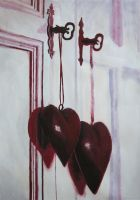 Hanging Hearts by goldenConnpass
