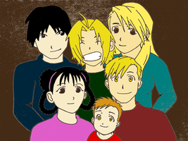 Mustang Elric Family by Bellofthesea