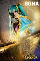 Sona the maven of the strings by VeroEs