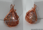 Juxtapose wire-wrapped pendant by Animus-Panthera