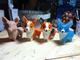 WIP Corgi Figurines by DragonCid
