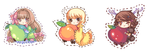 Fruit Chibis by Shiranova