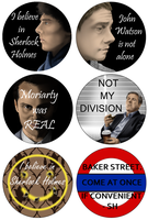 Sherlock buttons by Momiji95