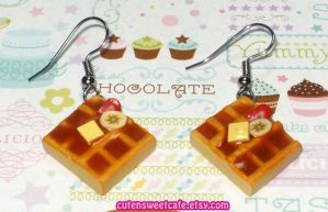 Fruit Slices Waffle Earrings by pinknikki