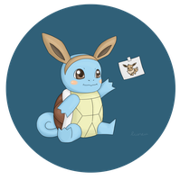 Squirtle's Halloween Costume by luneu