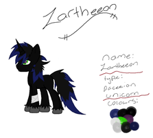 Zartheeon ~ Pony Ref Sheet by Zoeysoftpaws