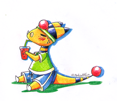 PKMNC - Drink Break by TamarinFrog