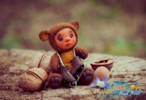 Ooak Teddy Doll Baby Bear Autor Toy Handmade Ines by ines-ka